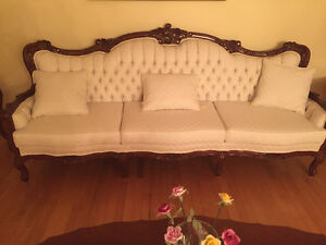 Antique French continental living room set