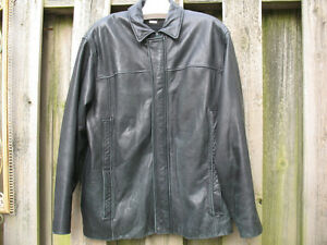 Mens Top Quality Danier Sheepskin Leather Coat w Liner