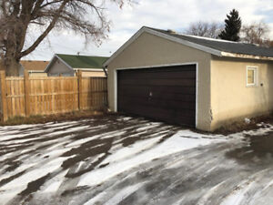2 car garage for parking and/or storage