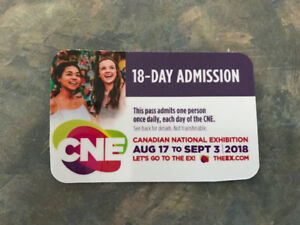 2 - 18 day admission passes for the CNE with parking pass