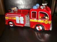 Hand Crafted wooden Fire Truck