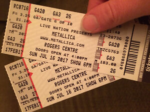 Metallica Rogers Centre July 16th