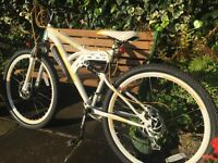 Ladies/Girls 18 speed Mountain Bike with Front and Back Suspension