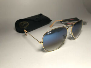 Ray-Ban Aviator Gold and Blue Gradient