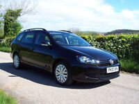 2010 10 Plate Volkswagen Golf 1.6 TDI Estate In Black ( 105ps )