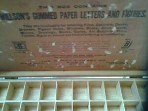 OLD WILLSON'S HANDY BOX FOR LETTERING Windsor Region Ontario image 2