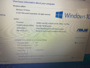 Asus Laptop 17.3' 'X750LA  i5  8G RAM 750G HDD