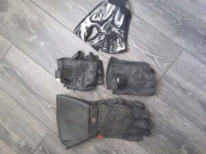 Leather motorcycle jacket's, chaps, helmets and accessories