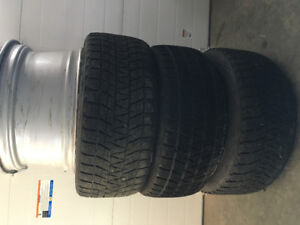 3 Winter Tires and 4 Rims for sale