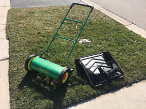 NaturCut Reel lawn Mower with bag attachment