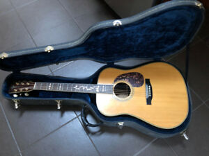 Martin inspired acoustic guitar.  Mountain M40