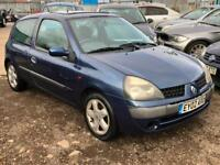 2002/02 Renault Clio 1.5dCi 65 Extreme LONG MOT EXCELLENT RUNNER