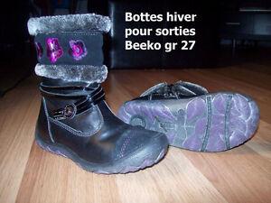 FILLE Bottes d'hiver pour les sorties Beeko gr 27