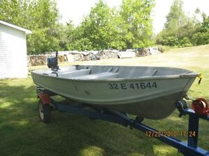 Sylvand 14 foot boat, trailer and Evinrude 15hp