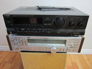 Technics And JVC Stereo Receiver,2 Sony Speakers