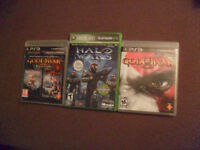 god of war collection ps3,god of war ps3 et halo wars xbox360