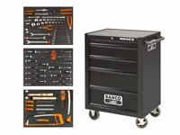 Bahco Rolling Cabinet with over 100 Tools. Ideal Mechanics Engineer starter Box kit Xmas Set