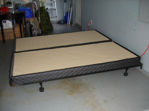 For sale - king sized bed frame, box spring and head board.