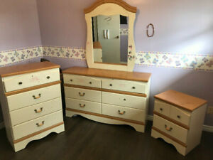 FURNITURE SET FOR YOUNGER GIRLS -- USED AND NEEDS TOUCH UPS -