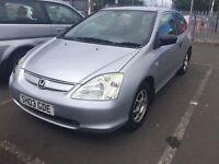 03 plate Honda Civic silver 3 door 1.4 petrol will break if required