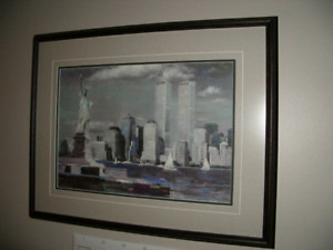 Twin Towers - Gallery Framed Painting