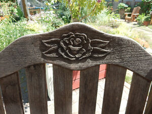 """48"""" Teak Table and Chairs Comox / Courtenay / Cumberland Comox Valley Area image 3"""
