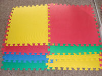New 8 pcs Interlocking Floor Foam Mats with borders Kids