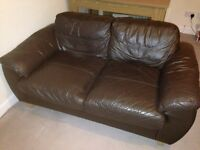 Two seater couches sofa brown