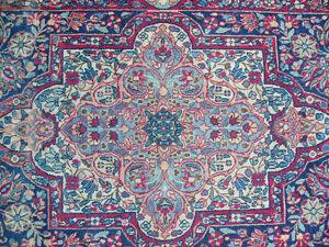 "Beautiful Antique Hand-woven Kerman Oriental Rug - 46"" x 84""k"