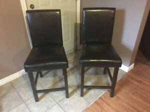 Counter Height Chairs - Dark Brown