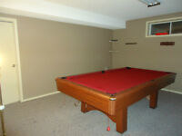Beautiful standard pool table for sale.