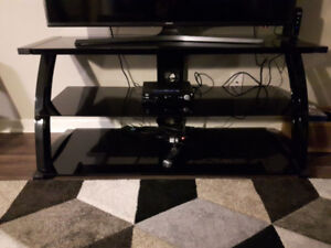 Black glass TV stand - fit up to 60 inch television!