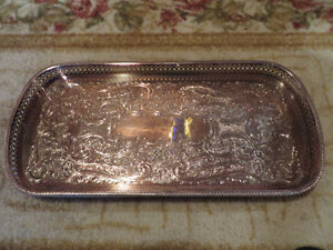 Antique Silver Plated Tray made in England