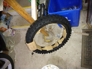 Shinko 505 rear tire for dirt bike.