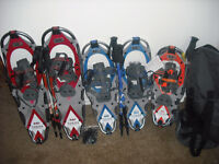 three par yukon chirlies lightly used snow shoe