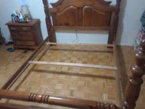 Queen size board bed frame for sale