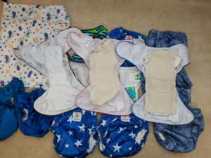 Cloth diapers, training underpants and bathing suits