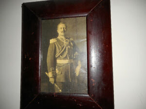 old framed photo print of kaiser wihlem 2nd of germany (ww1)