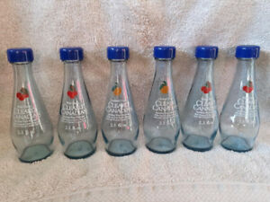 6 Bottles of 1984 Clearly Canadian salt and pepper shakers