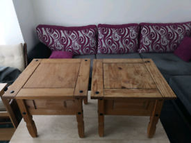 Pair of Mexican Pine coffee tables £30 for pair
