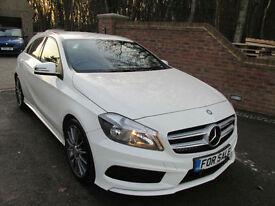 2014 (64) MERCEDES A180 1.5 CDI AMG SPORT AUTO + WHITE,-£1000 JAN SALE
