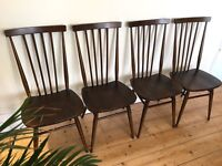 Four vintage Ercol 608 Dining Chairs