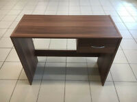 Small walnut finished computer desks for sale