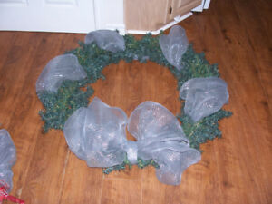 Large Artificial Christmas Wreath 42 Inches Across For sale