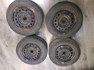 Toyota Corolla Goodyear Nordic Winter Tires WITH RIMS + HUBCAPS!