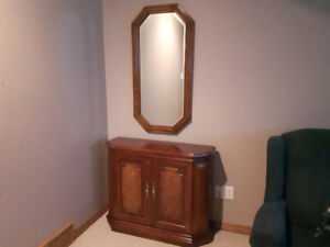 Hall Console with Matching Mirror