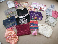 Girls clothes:  36 items sz. 10/12.  That's just over $1.25/item