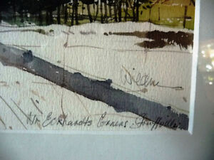 """Early Spring """"Near Eckhardts Corners, Stouffville, Watercolor Stratford Kitchener Area image 5"""