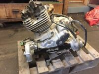 Honda Trx300 Big Red 4x4 Quad Engine with starter motor and transfer gears.