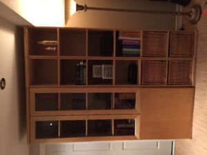 IKEA Bonde bookshelves and tv console